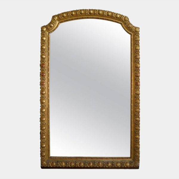 LARGE ANTIQUE FRENCH GOLD GILT MIRROR