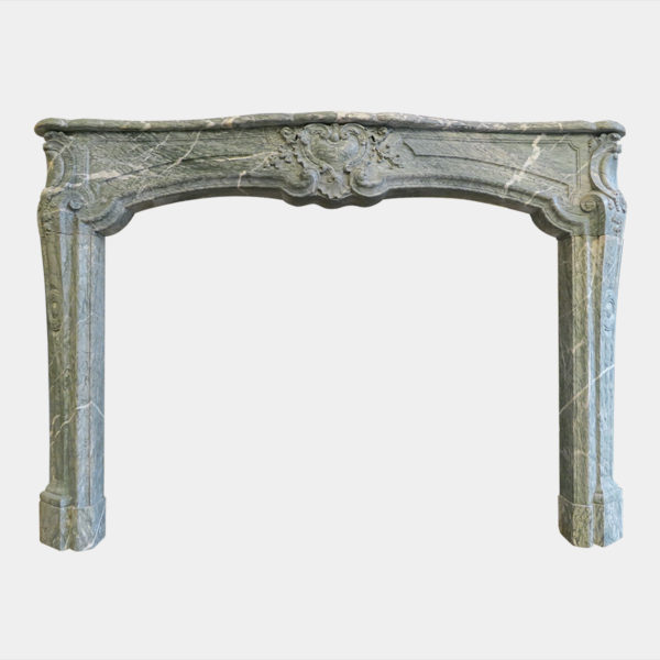 LARGE CAMPANA MARBLE 18TH CENTURY FRENCH FIREPLACE