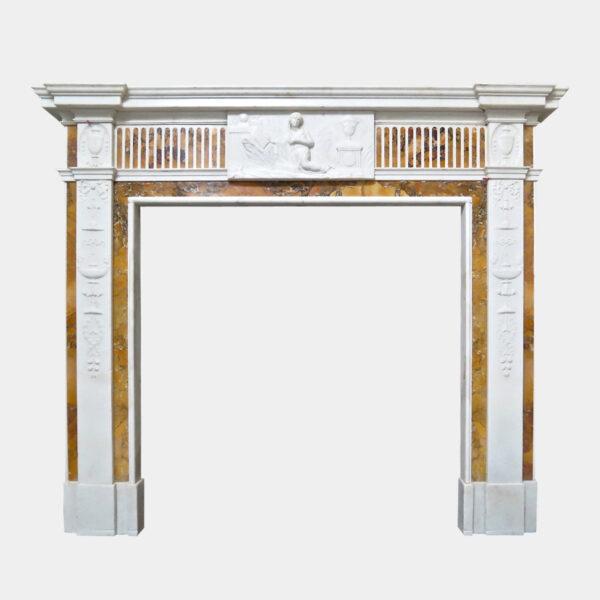 18th Century Georgian Marble Neoclassical Fireplace