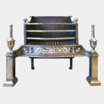 An Antique Steel Fire Grate