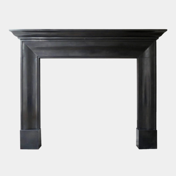 English Style Black Marble Fireplace
