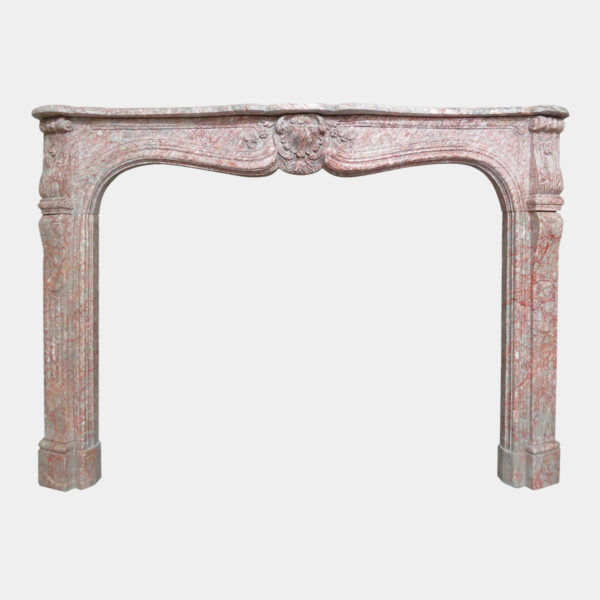 French 19th Century Louis XV Style Marble Fireplace