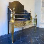 An Antique Irish Brass and Steel Fire Grate