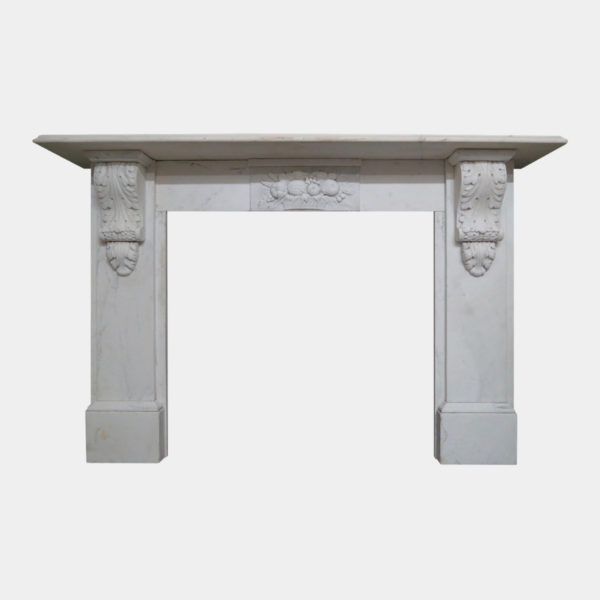 Statuary White Marble Antique Fireplace