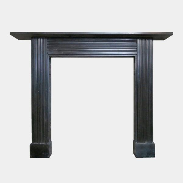 Antique Georgian Irish Black Marble Fireplace Mantel