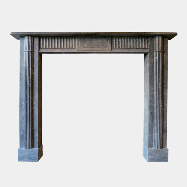 A Late 18th Century Irish Grey Marble Fireplace