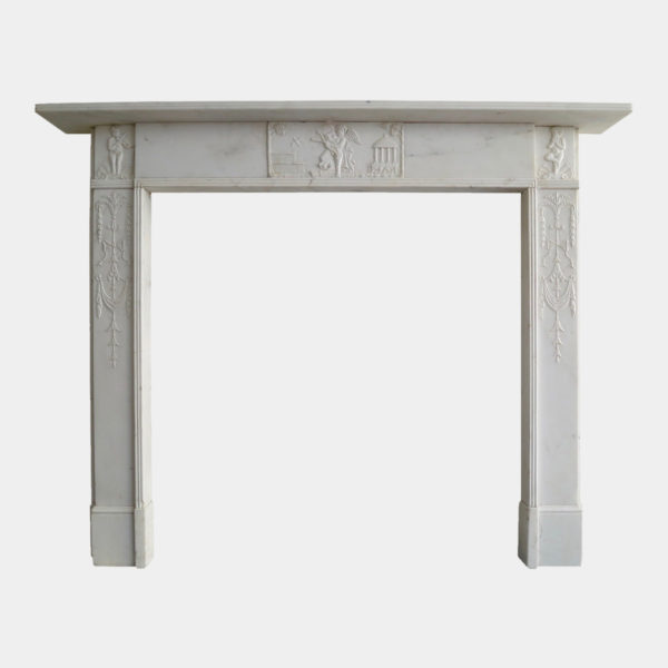George Iii Statuary White Marble Fireplace