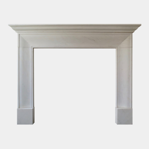 English Style White Marble Fireplace