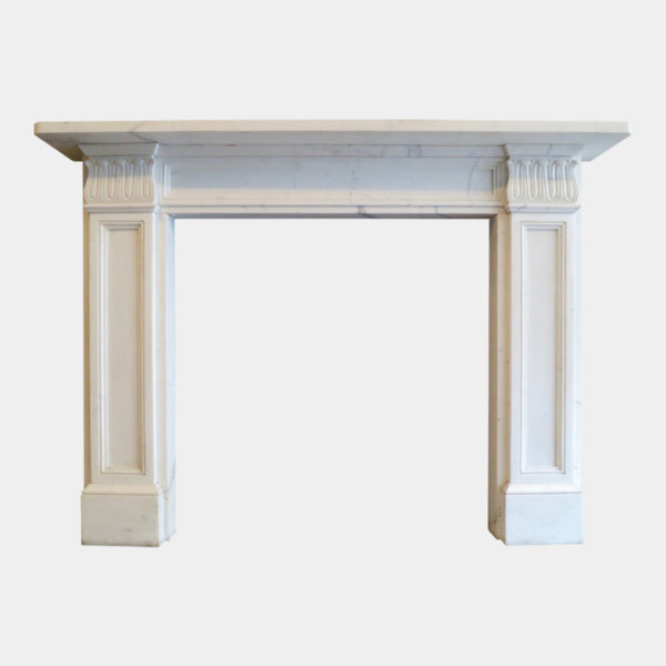 Statuary White Marble Regency Style Fireplace