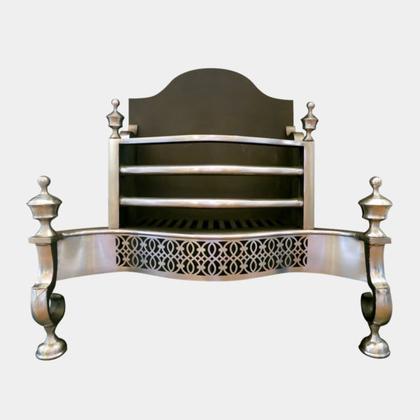 Reproduction Polished Steel Fire Basket