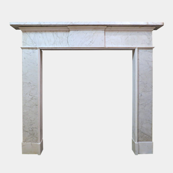 A Late 18th Century Irish Marble Fireplace
