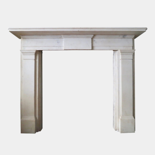 Early 19th Century Statuary White Marble Fireplace